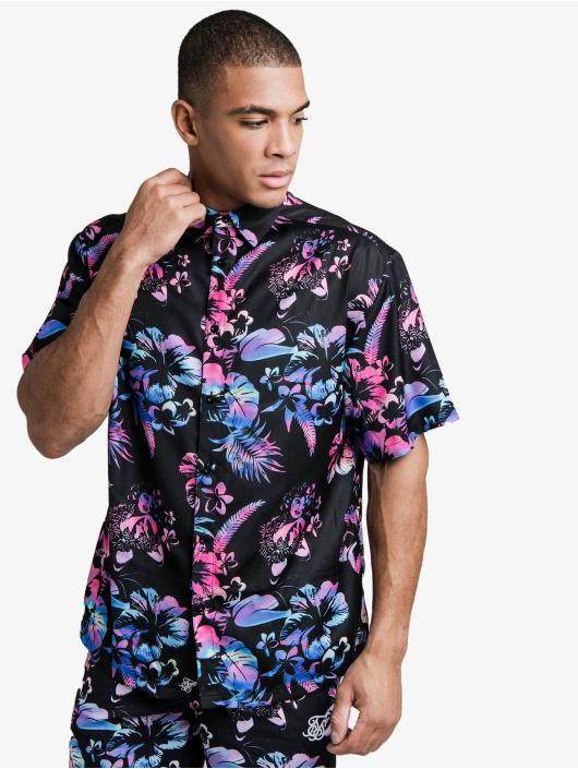 Sik Silk Chemise Hawaii Resort Shirt noir