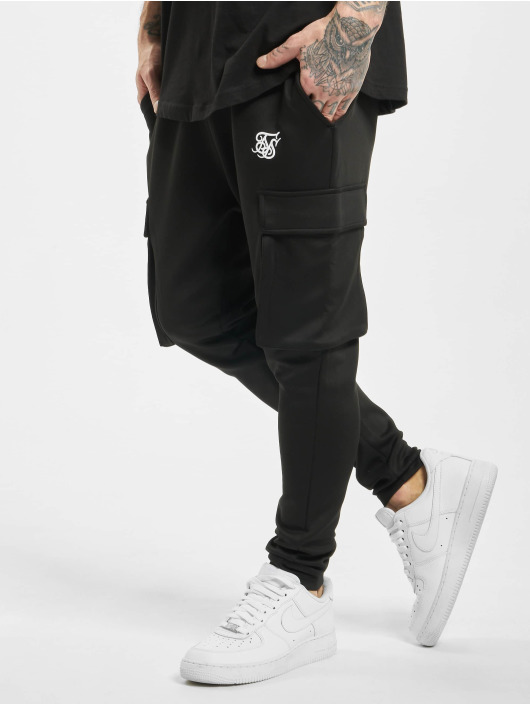 Sik Silk Chino bukser Poly Athlete svart