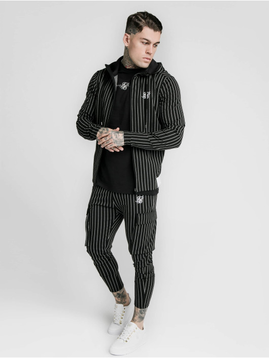 Sik Silk Chino bukser Siksilk Pinstripe svart