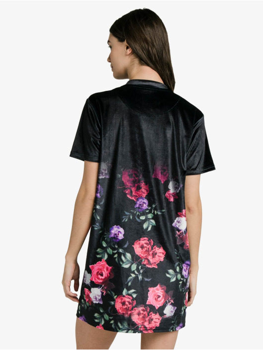 Sik Silk Dress Velour Oil black