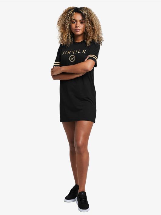Sik Silk Dress Mesh black