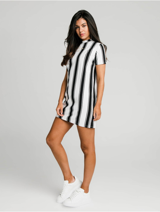 Sik Silk Dress Athena Stripe black