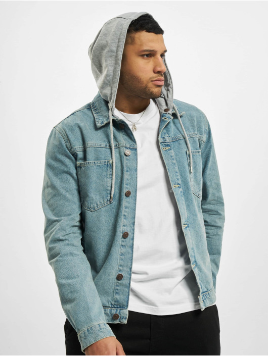 Sik Silk Giacca Jeans Hooded blu