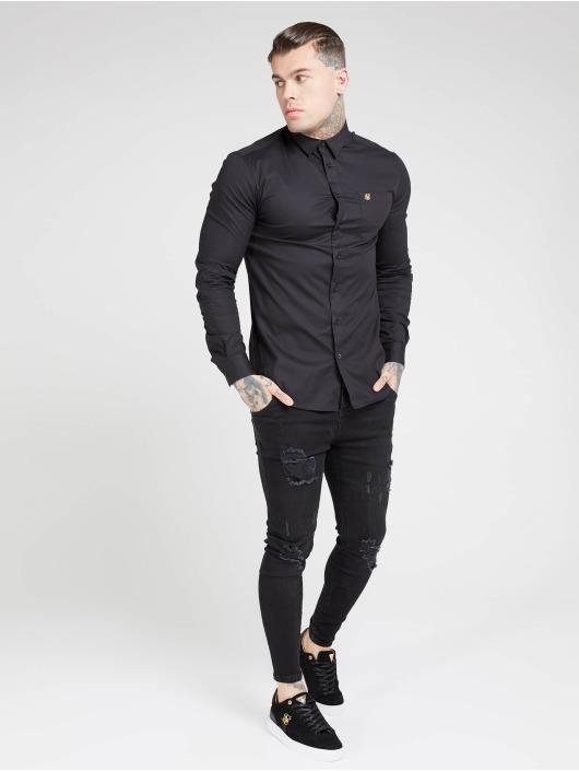 Sik Silk Hemd Smart schwarz