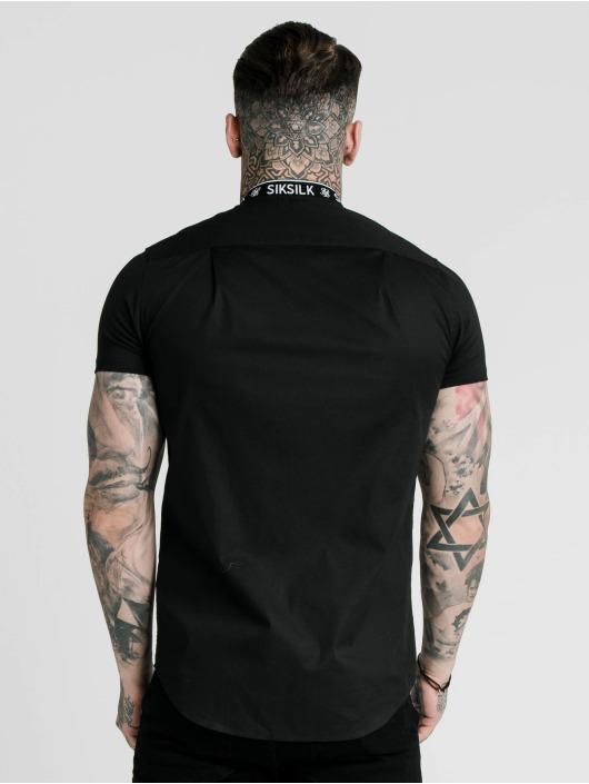 Sik Silk Hemd Tape Collar schwarz