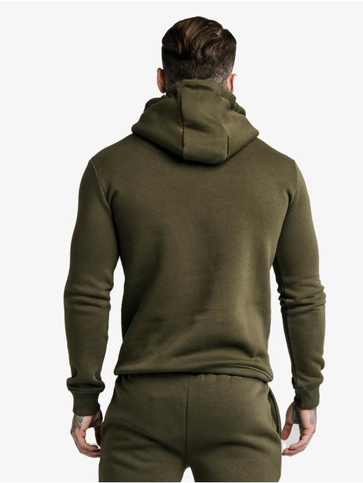 Sik Silk Hettegensre Muscle Fit Overhead khaki