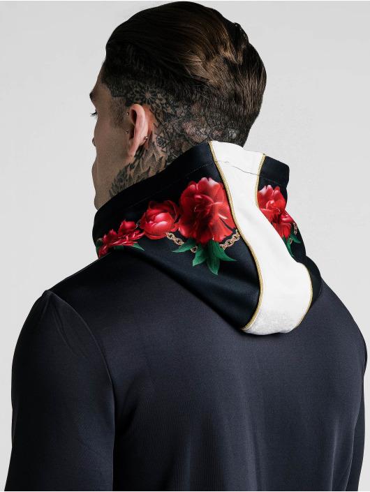 Sik Silk Hoodie Majestic Quarter Zip Overhead black