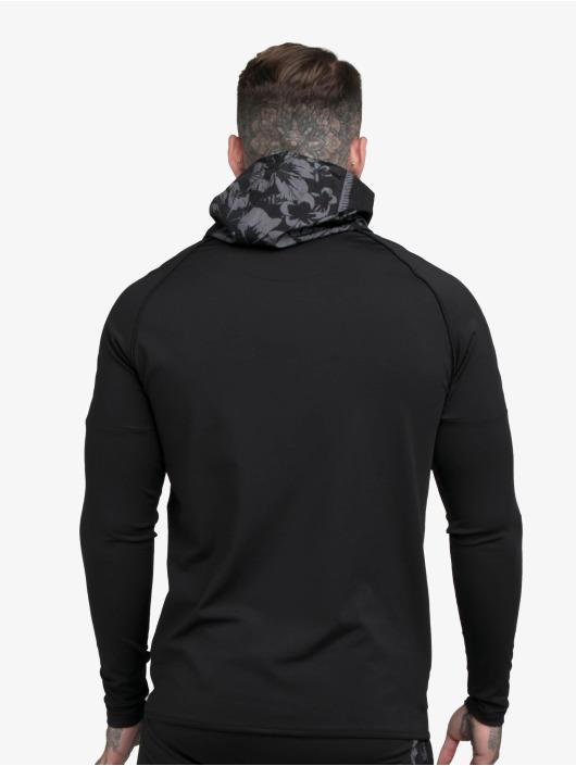 Sik Silk Hoodie Scope Hawaii Zip Through black