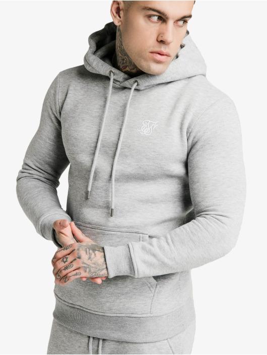 Sik Silk Hoodie Muscle Fit Overhead grey