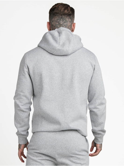 Sik Silk Hoodie Muscle Fit Overhead grey