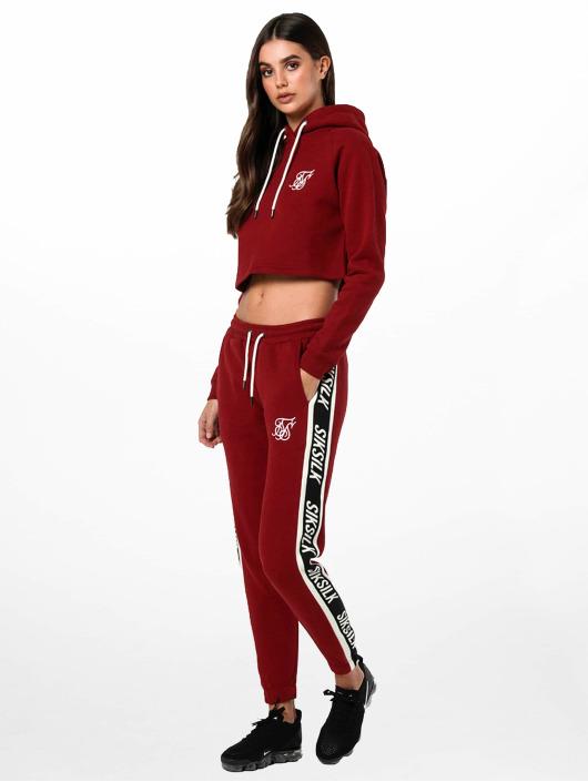 Sik Silk Hoodie Cropped red