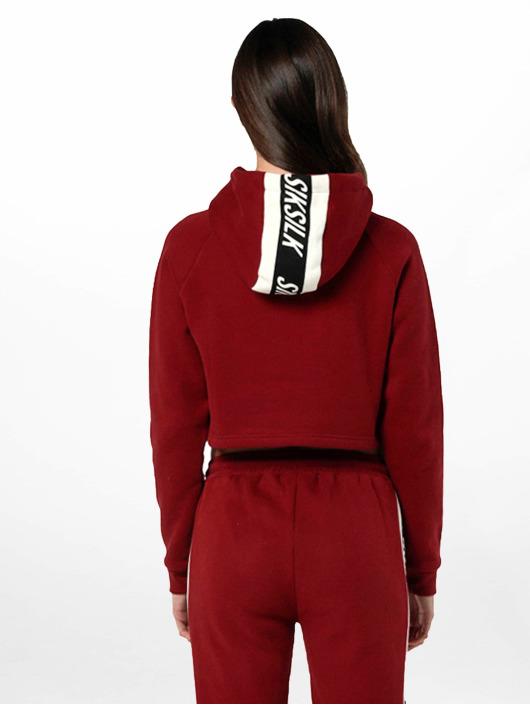 Sik Silk Hoody Cropped rood