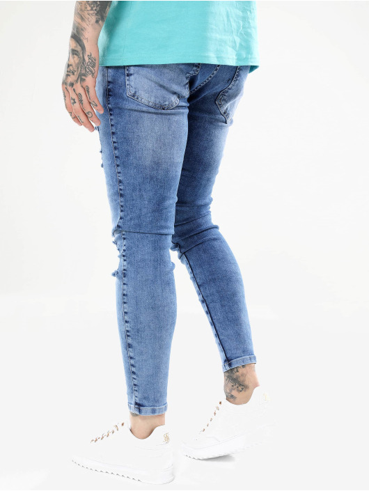 Sik Silk Jean skinny Distressed bleu