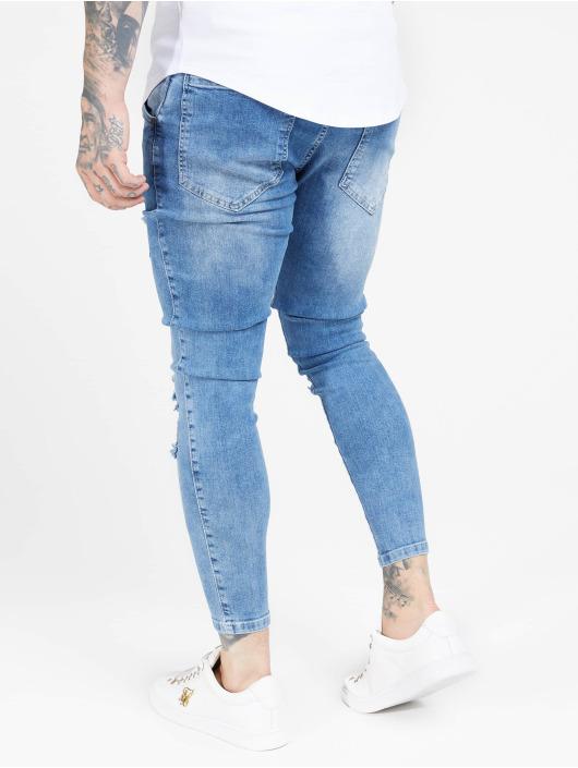 Sik Silk Jean skinny Distresed bleu