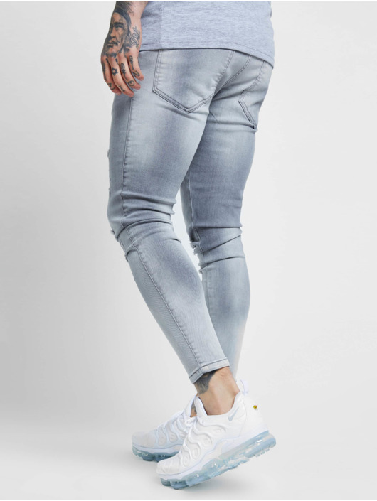 Sik Silk Jean skinny Distressed gris