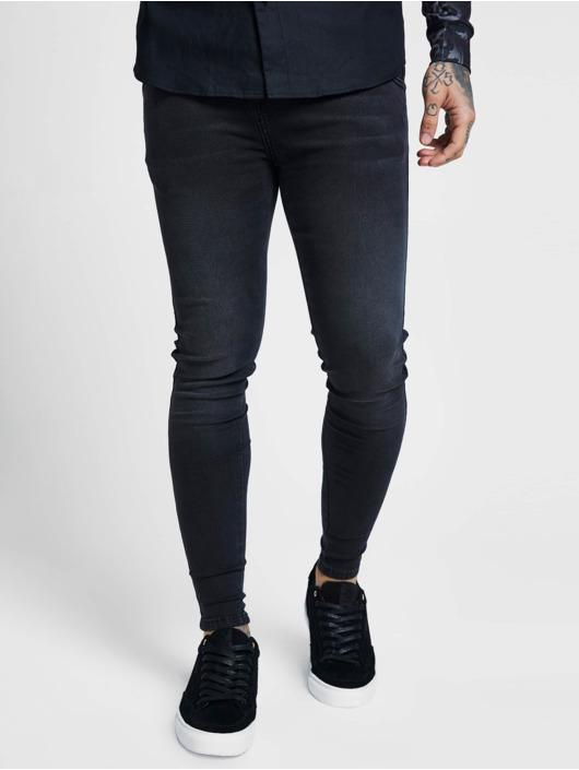 Sik Silk Jean skinny Skinny noir
