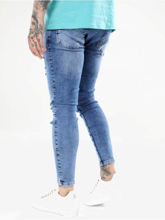 Sik Silk Jeans slim fit Distressed blu