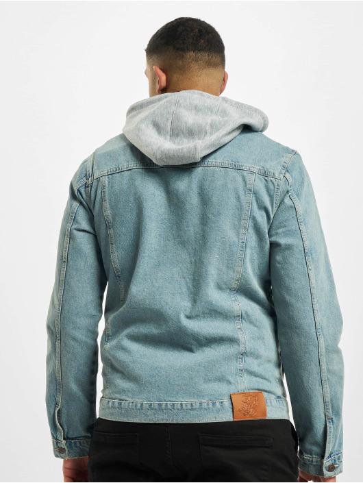 Sik Silk Jeansjacken Hooded blau