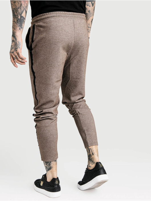 Sik Silk Joggebukser Ultra Cropped Taped Tech beige