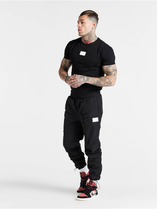Sik Silk Jogging kalhoty Toggle Cuff čern