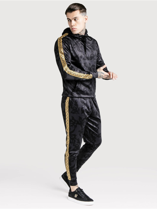 Sik Silk Jogging Croped Cuffed Poly noir