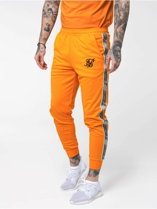 Sik Silk joggingbroek Cuffed Cropped Runner oranje
