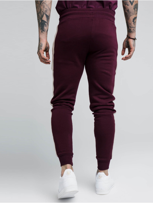 Sik Silk joggingbroek Fitted Taped rood