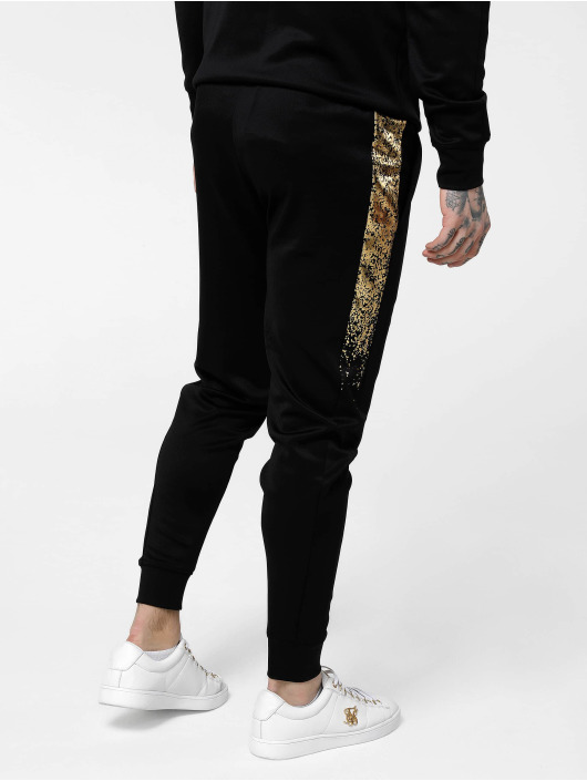 Sik Silk Joggingbukser Cuffed Cropped Fade Panel sort