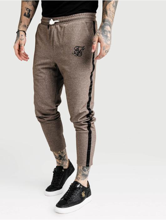 Sik Silk Jogginghose Ultra Cropped Taped Tech beige