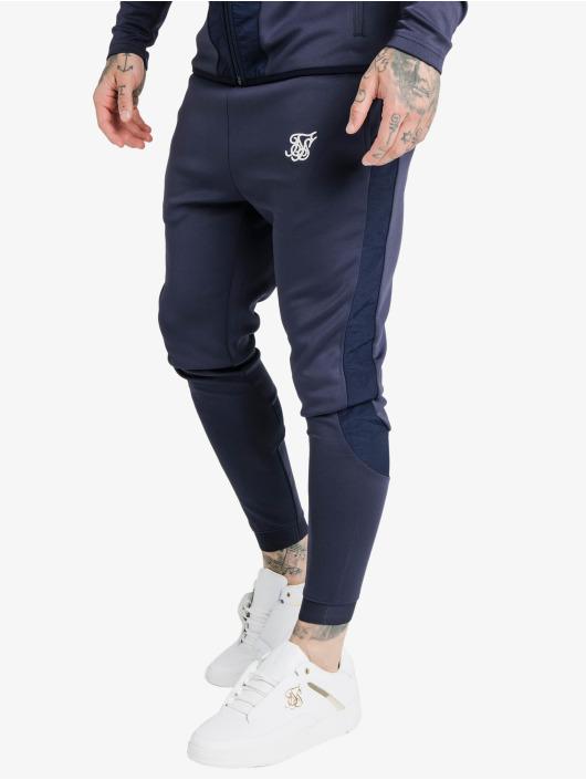Sik Silk Jogginghose Creased Nylon blau