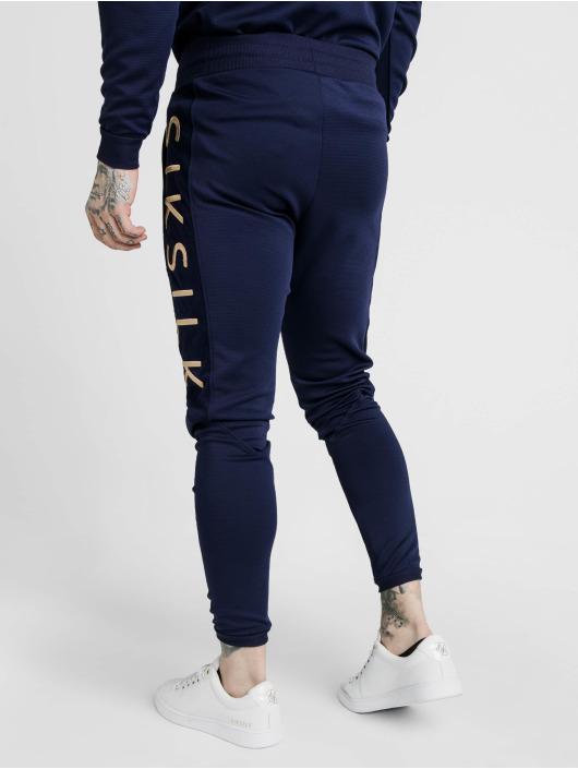 Sik Silk Jogginghose Fitted Panel Cuff blau