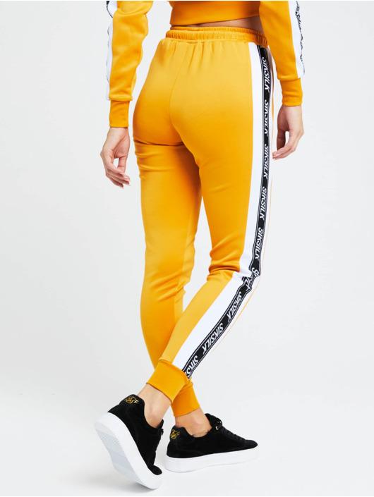 Sik Silk Jogginghose 90s Panel Poly gelb