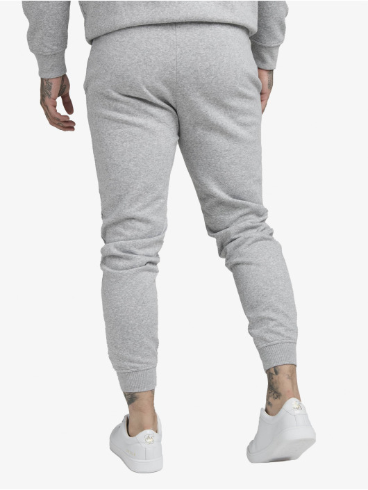 Sik Silk Jogginghose Muscle Fit grau