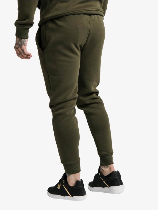 Sik Silk Jogginghose Muscle Fit khaki