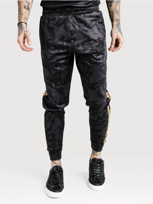 Sik Silk Jogginghose Croped Cuffed Poly schwarz