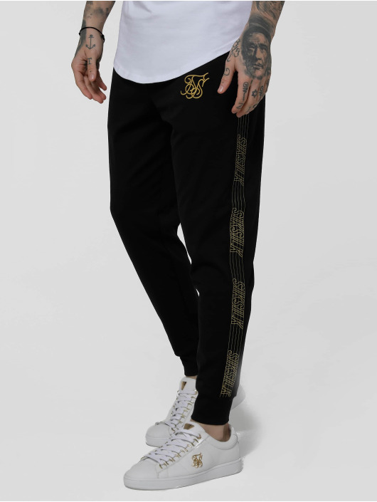 Sik Silk Jogginghose Golden Edit Cuffed Cropped Runner schwarz