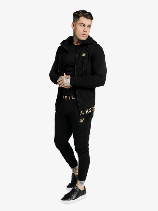Sik Silk Jogginghose Siksilkelastic Jacquard schwarz