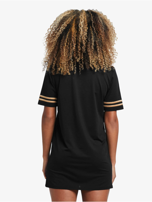 Sik Silk jurk Mesh zwart