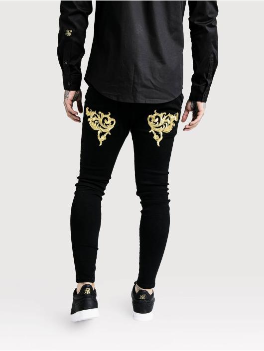 Sik Silk Kapeat farkut Low Rise musta