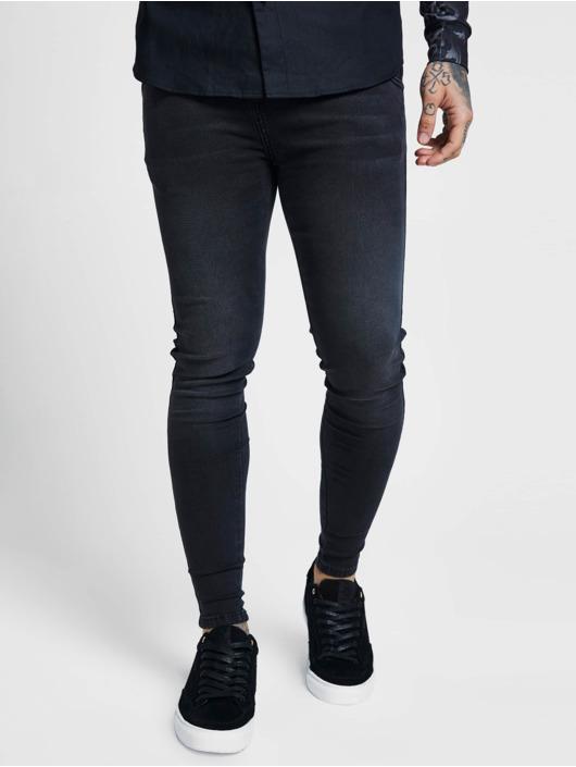 Sik Silk Kapeat farkut Skinny musta