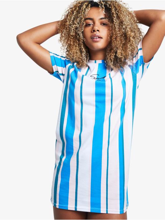 Sik Silk Kleid 90's Stripe blau