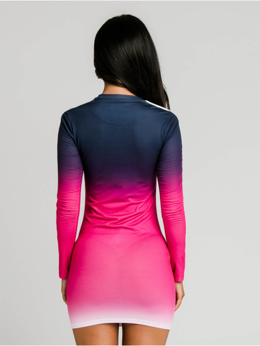 Sik Silk Kleid Tape Fade Bodycon blau