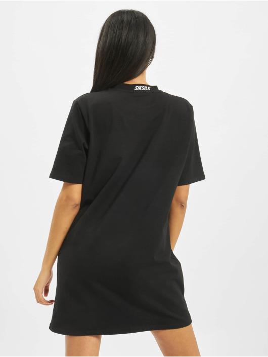 Sik Silk Kleid Tape Neck Box Fit schwarz