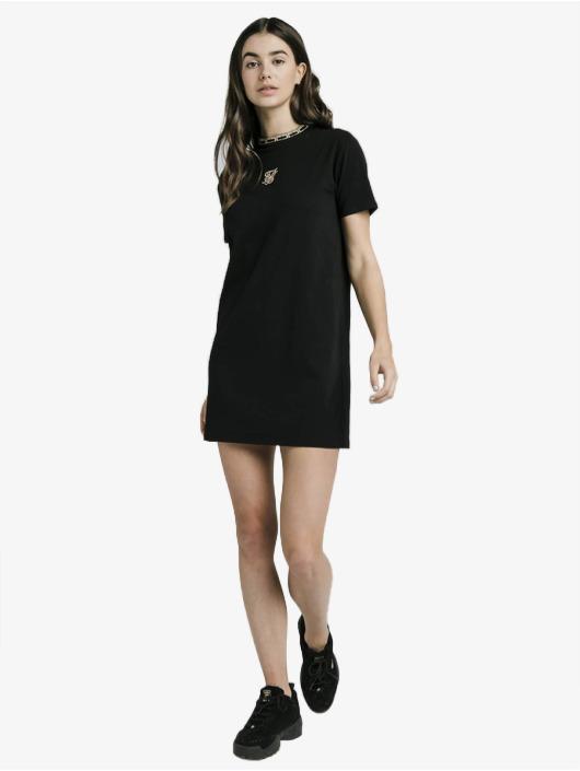 Sik Silk Kleid Tape Collar schwarz