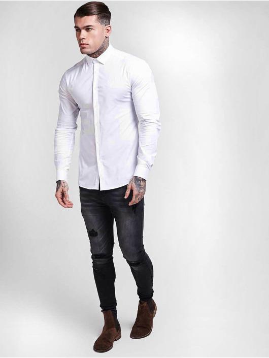 Sik Silk Košele Cotton Stretch biela