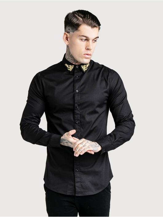 Sik Silk Košile Muscle Fit čern