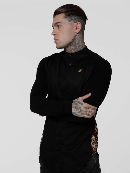 Sik Silk Koszule Royal Venetian Muscle Fit Slide czarny