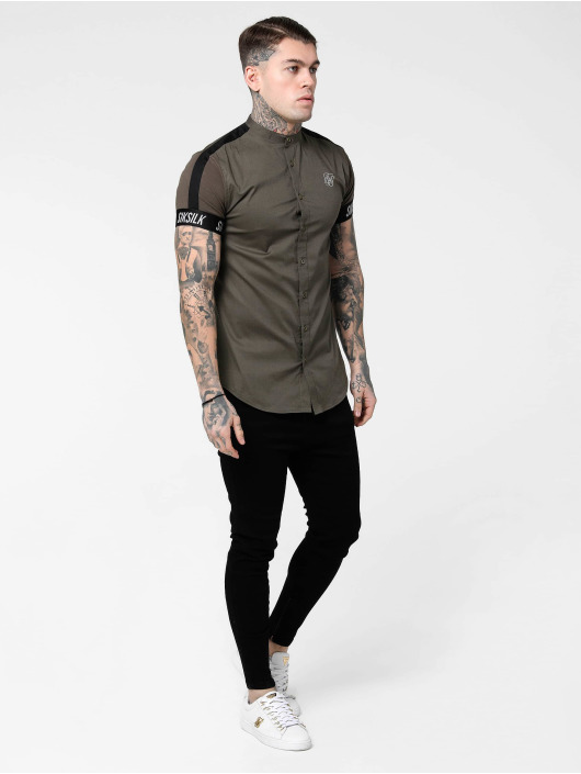 Sik Silk Koszule Tech Tape Grandad khaki
