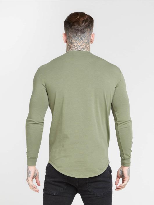 Sik Silk Langermet Core Gym khaki