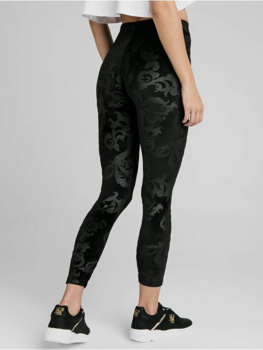 Sik Silk Legging Embossed Velour schwarz